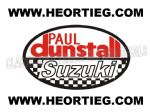 Paul Dunstall Suzuki Tank and Fairing Transfer Decal DDUN6-1